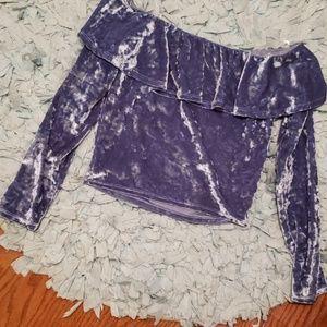 Tops - Crushed velvet top